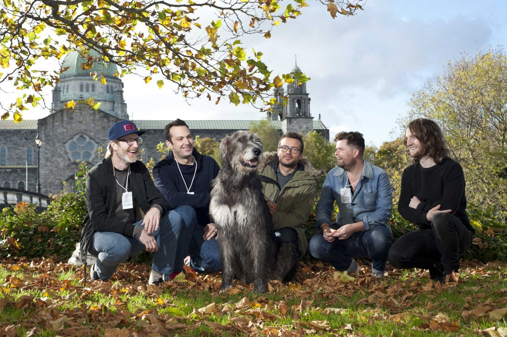 Chefs Daniel Burns, Canada, Matt Orlando, USA, Christian Puglisi, Denmark, Robin Gill, Ireland and Douglas McMaster from Scotland behind the scenes with 'Chieftan' at Food On The Edge 2016, which is taking place at the Town Hall Theatre in Galway City. Photo: Declan Monaghan